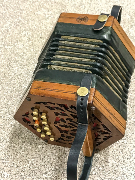 Minature 20 key Anglo Concertina in F/Bb - TheReedLounge.com