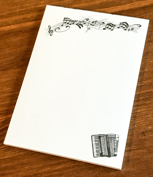 Accordion writing pad - A6 size - TheReedLounge.com