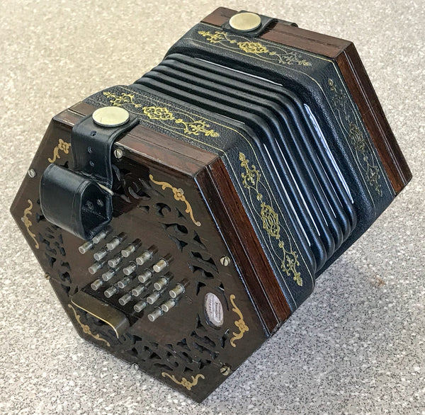 Wheatstone 48 key English Concertina, Brass Reeds - TheReedLounge.com