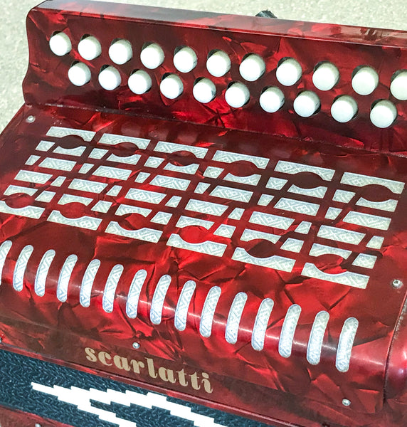 Scarlatti Red B/C Melodeon or Button Accordion - TheReedLounge.com