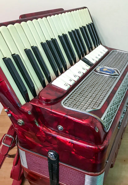 Paolo Soprani 4 voice double octave 120 bass piano accordion - TheReedLounge.com