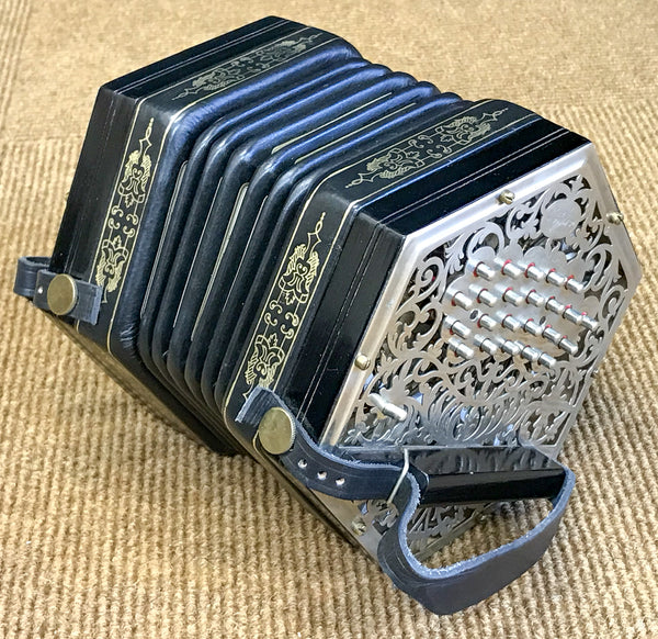Jeffries 46 key Anglo Concertina in C/G - TheReedLounge.com