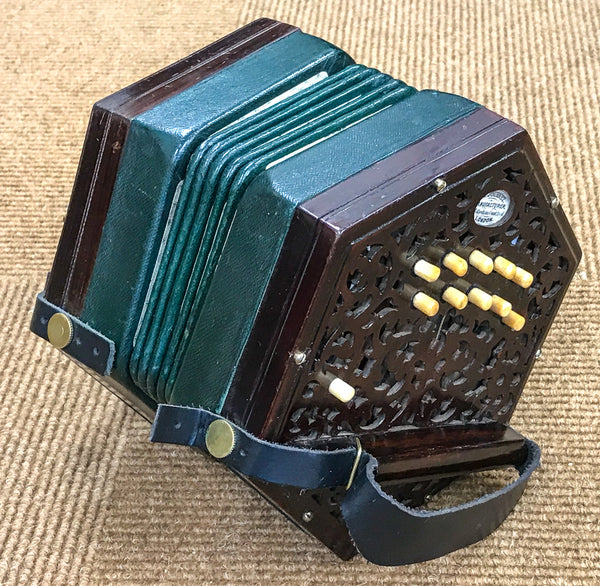 Lachenal 20 key Anglo concertina C/G, badged H J Journet