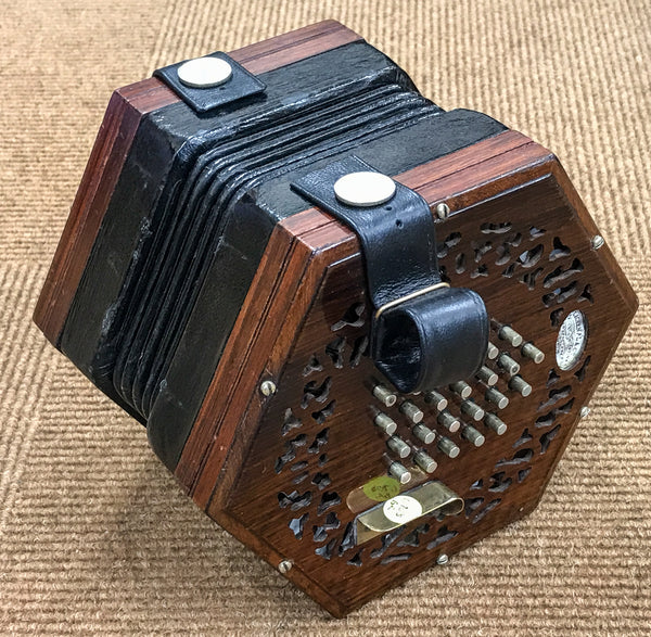 Lachenal Paragon English Concertina, Brass Reeds - TheReedLounge.com