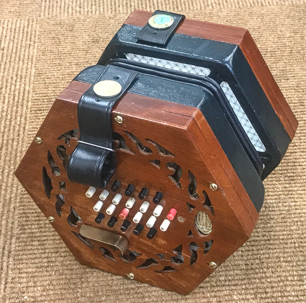 Lachenal 48 key Tutor Model English Concertina Brass Reeds - TheReedLounge.com