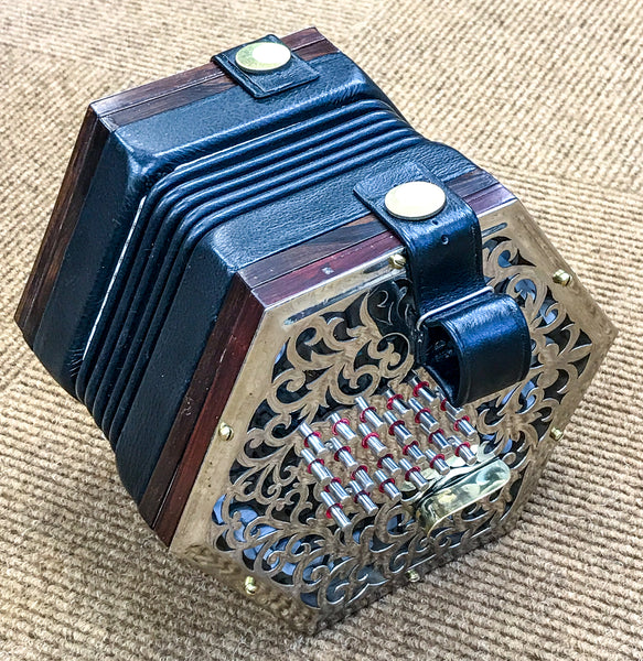Lachenal 48 key English Concertina, metal ends
