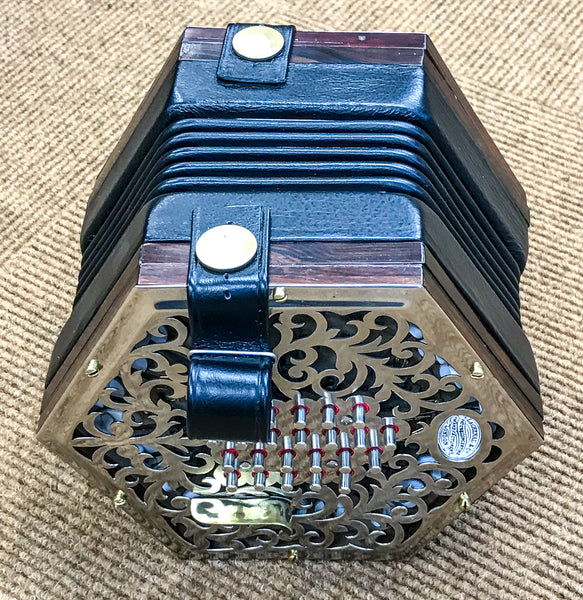 Lachenal 48 key English Concertina, metal ends - TheReedLounge.com