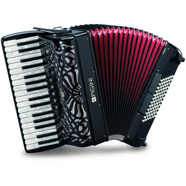 Pigini Deluxe Preludio P36-3 72 or 96 Bass Piano Accordion - TheReedLounge.com