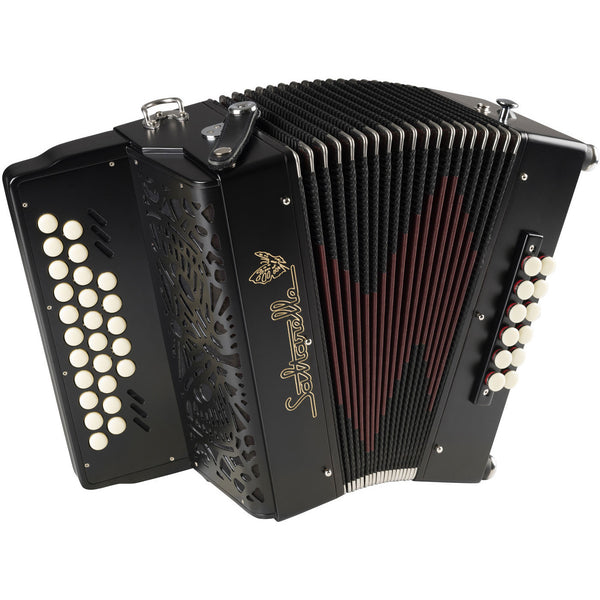 Saltarelle Endymion 2 voice melodeon/diatonic accordion - TheReedLounge.com