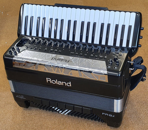 Roland Flagship V-Accordion FR-8X in Black - Piano Accordion - Ex Demo