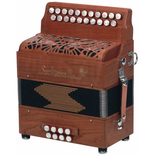 Saltarelle l'Elfique 3 voice Melodeon/diatonic accordion - TheReedLounge.com