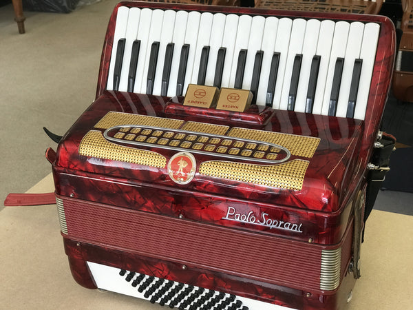 Paolo Soprani 2 voice 72 bass Piano Accordion