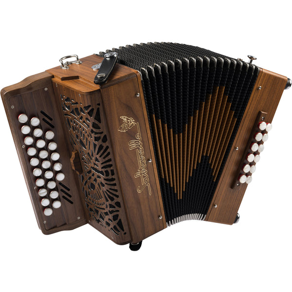 Saltarelle Le Romané, 2.5 row 3 voice melodeon/diatonic accordion - TheReedLounge.com