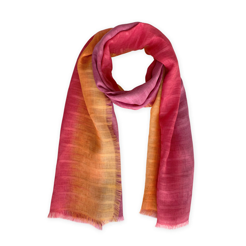 linen-scarf-hand-painted-70x200cm-pink-orange-otta-italy-2012