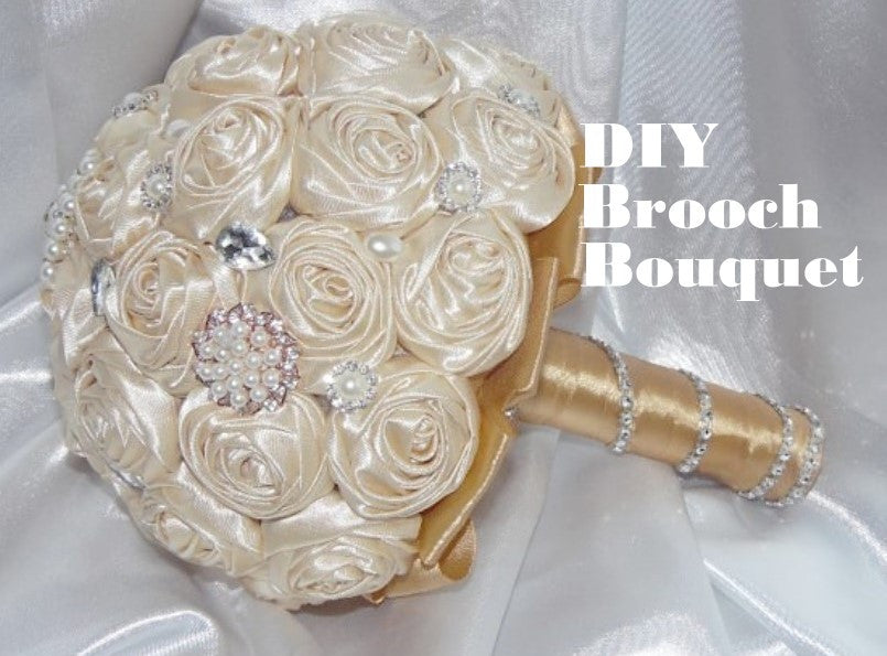 DIY Brooch Bouquet Tutorial