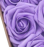 100pcs ~ Real Touch Foam Roses Wholesale Bulk RT-100