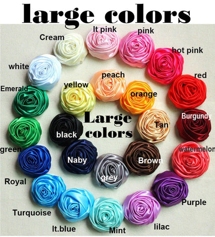 30pcs Deluxe Satin Roses DIY Bridal Bouquets SATIN-003