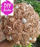 MONA~Satin Rose Brooch Bouquet or DIY KIT