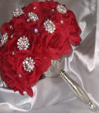 Silk Roses Customized Brooch Bouquet SILK- 001