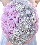 Silk Roses Customized Brooch Bouquet SILK- SERENITY