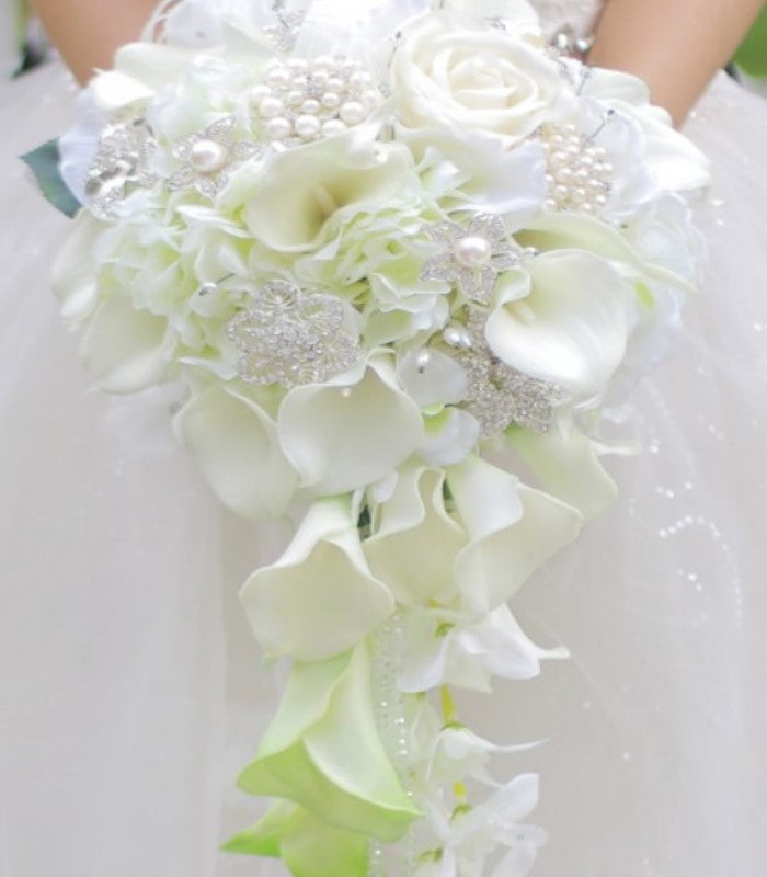 Silk Flower Brooch Bouquets – Bouquets by Nicole