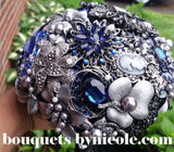 TINA ~ Blue Luxury Brooch Bouquet