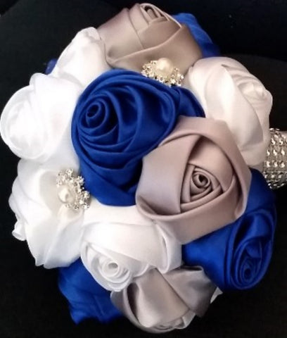 DIY Satin Rose Brooch Bouquet KIT- PEACE