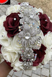 RIHANNA~Silk & Real Touch Roses Brooch Bouquet or DIY KIT