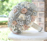 ABBEY~BCUST Satin Rose Brooch Bouquet or DIY KIT