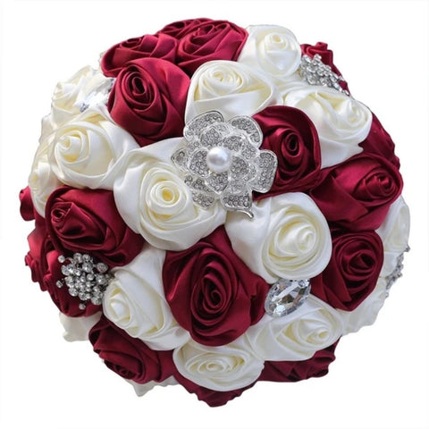 RINA Deluxe Roses Brooch Bouquet