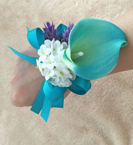 Calla Lily  Wedding or Prom Wrist Corsage COR-003