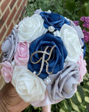 KIA ~ Real Touch Roses Brooch Bouquet or DIY KIT