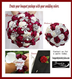 RINA Deluxe Roses Brooch Bouquet or DIY KIT