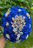 JEWEL ~ Satin Roses Brooch Bouquet or DIY KIT