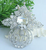 Extra Large Brooch Clear Rhinestone Crystal BR-016