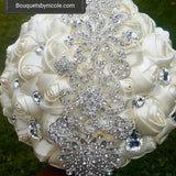 TESS~EMR Satin Rose Brooch Bouquet or DIY KIT