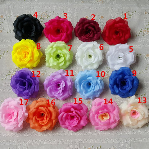 100pcs Silk Rose Heads SF-0100