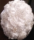 Satin Rose Brooch Bouquet KIT-ARI