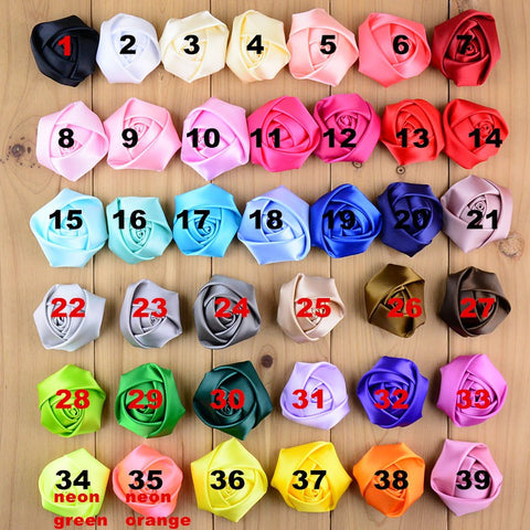 "30pcs Ex, Large Satin Roses 3"" 70mm SATIN-003"