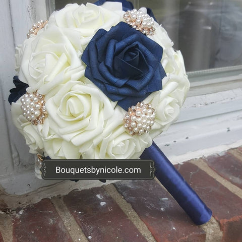 BRIT ~ Roses Brooch Bouquet or DIY KIT