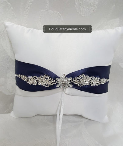 Customized Brooch Wedding Ring Pillow Flower Girl Basket Guest book Pen Set CBP- 200