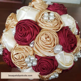 MONI ~ Satin Rose Brooch Bouquet or DIY KIT