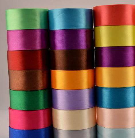"1"" Satin Ribbon 50 yards Wholesale WSA-001"