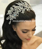 Handmade Crystal Bridal Headpiece Wedding Accessories Rhinestone Headband   HBR-020