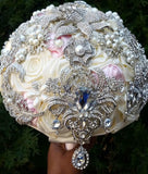 Satin Rose Brooch Bouquet EMR-ALI