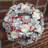 Satin Roses Brooch Bouquet or DIY KIT ~ JERI