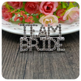 Team Bride Brooch Wedding Party Gift Rhinestone Crystal