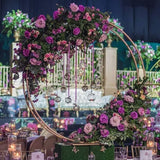 Wrought Iron Wedding Centerpiece Flower Double Rings Stands