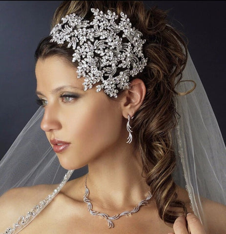 Bridal Hair Brooch Rhinestone HBR-002