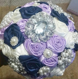DIY Brooch Bouquet Satin Roses KIT- ALI